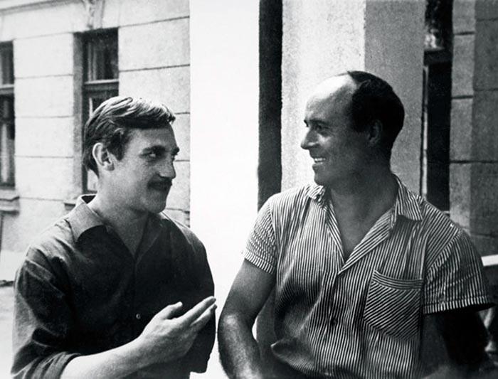 Высоцкий и Говорухин на съёмках